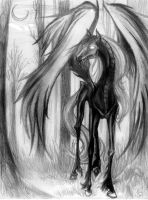 Midnight Forest Thestral by kiralachan