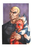 Rex and Ahsoka by MelHell84