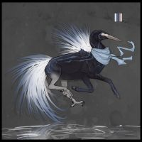 Egret Hippogriff Adopt - Sold by catdoak