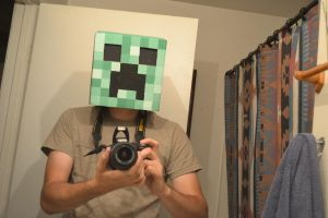 Creeper Mask by PlaidTurtle