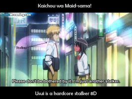 Usui is THE stalker by millez16