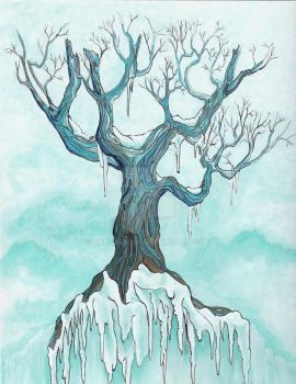 Blue Tree (sold) by MentalRose