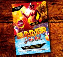 Pool and Beach Summer Party Flyer by satgur