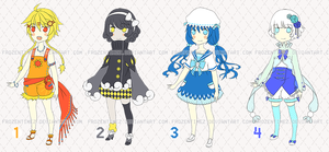 Adoptables Set 1 TAKEN by FrozenTimez