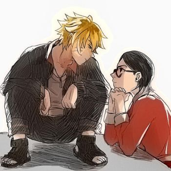 bolt and sarada by souji-pain