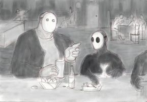 Jack meets Jason Voorhees at the Bar! by LinmirianJoyrex
