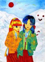 Mikoes in winter season by Inachime