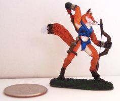 Fox Archer Painted Miniature 1 by beckyg