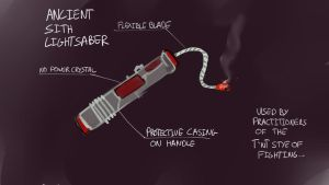 Ancient Sith Light Saber by Noben