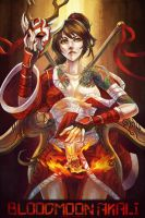 Bloodmoon Akali by MonoriRogue