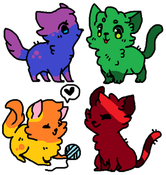 3/4 CAT ADOPTABLES by ParagonPalace