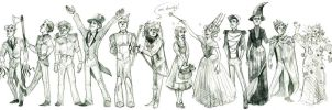 Oz Characters by HalosMadeOfSummer