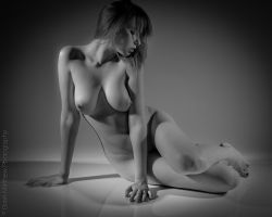 Artistic Nude on Acrylic 3 BW by BrianMPhotography