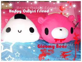 Happy Onigiri and Gloomy Bear by MagicalBunny
