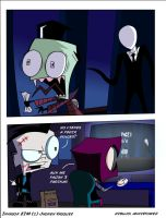 playing slender by annie-tower