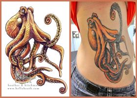 Giant Pacific Octopus Tattoo Design Ink by HeatherHitchman
