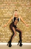 Kataxenna Kova Blonde in Black Catsuit by Kataxenna-Kova