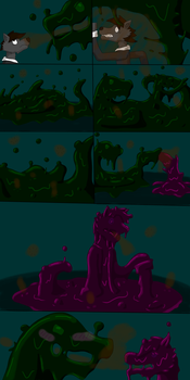Slime TF comic 10th by K-HENRY