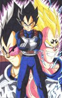 Vegeta: Respect the Prince of all Saiyans! by d13mon-studios