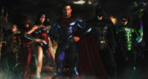 Justice league wallpaper by ethaclane