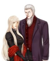 Sparda and Eva by kitsunedajfox