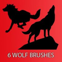 Wolf Brushes by remygraphics