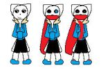 Kitten!Tale sans Battle sprites! (Colored!) by Chicatheheroine