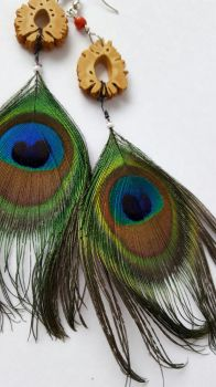 Peacock earrings by RoboMage