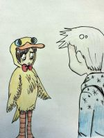 Hiccup dressed as a duck. by shadowpiratemonkey7