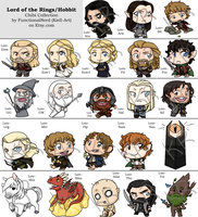 Chibi Collection - Lord of the Rings/Hobbit by Kiell-Art