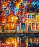 Drawing The Town by Leonid Afremov by Leonidafremov
