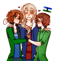 rly gay cascadians by s-alish