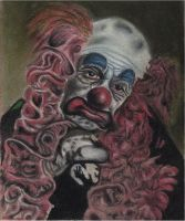 old clown by warni