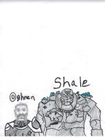 First Shale and Oghren pics I have ever done by japillar