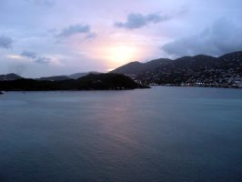 Sunset in St. Thomas by photowizard