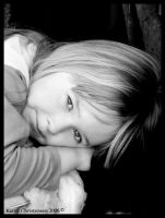 Having a Rest BW by Paigesmum