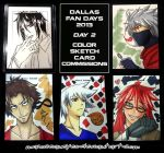 commission. dallas fan days 2013 sketch cards II by maioceaneyes