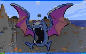 Golbat On Minecraft by Miccopicco