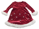 Red dress with snowflakes png by Adagem