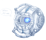 Wheatley - Portal 2 by Aviarei