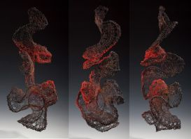 Sculptural Crochet Vessel II by KatieSchutte