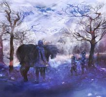 winter day by amatoy