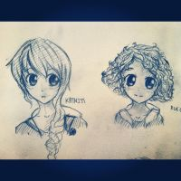 Katniss and Rue Manga Fanart by DontEatMyPiexD