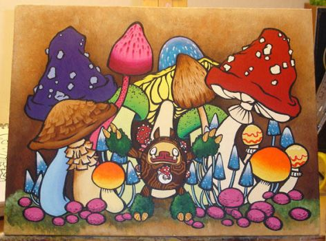 Funguy and The Mushroom Forest by Lozzyboo
