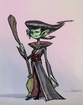 Doodle Witch by JBellio