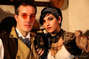 steampunk couple by MaddMorgana