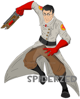 Medic with Ubersaw (without Blood and Dark) by SpiderZed