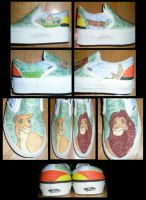 Lion King Shoe Commission by vickigia