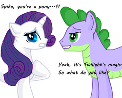 Spike and Rarity by Nointime