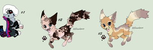 Leftover Wolf Adoptables .:OPEN:. by TinyWolfy